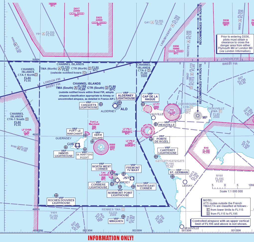 Channel Island Airspace Map